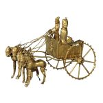Gold Model Chariot (Persian, Achaemenid, 5th to 4th Century BCE). Tajikistan, River Oxus. Miniature with gold metalwork. From collection of British Museum, London, England.