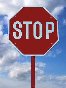 Fuldt stop-skilt